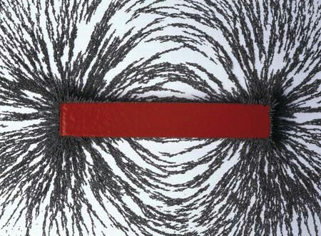 Red horizontal bar with black lines radiating from ends.