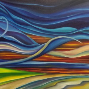 Beach, Front 20x30 Oil on canvas 2016