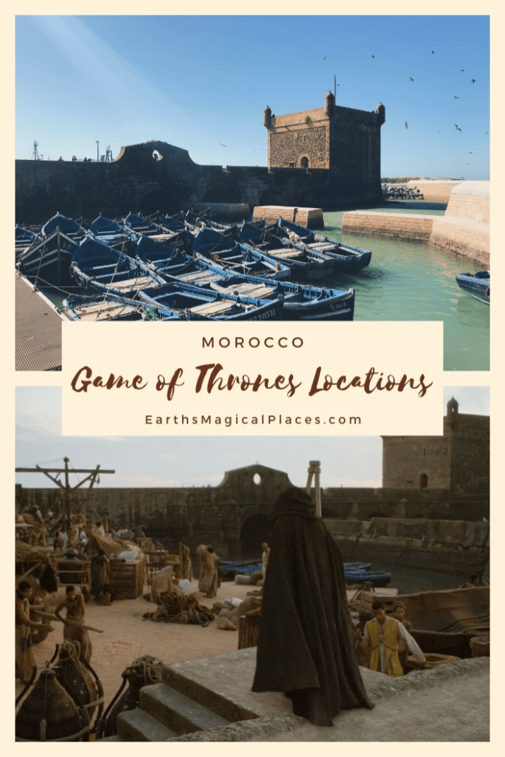 There are several Game of Thrones Locations that have been filmed in Morocco throughout the seasons. Destinations in Morocco have served as the sets for Yunkai and Astapor. This post is your guide to visiting these game of thrones morocco locations #AitBenHaddou #GameofThrones #essaouira #Morocco