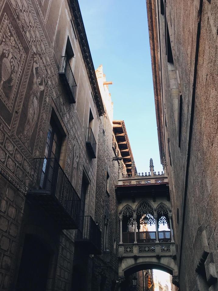 Gothic Quarter Barcelona Bridge