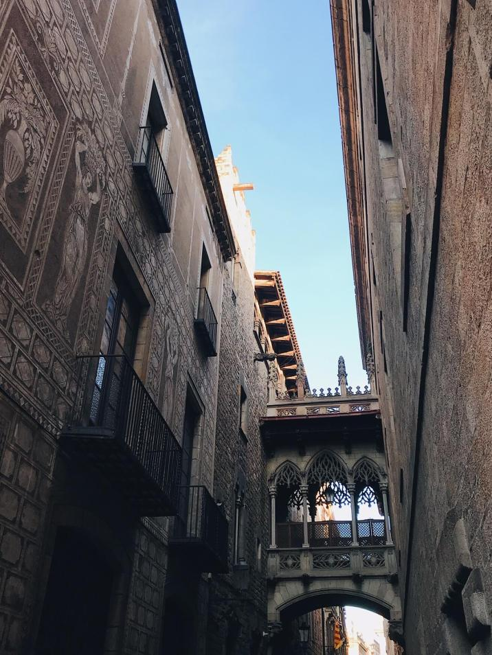 Gothic Quarter Barcelona Bridge
