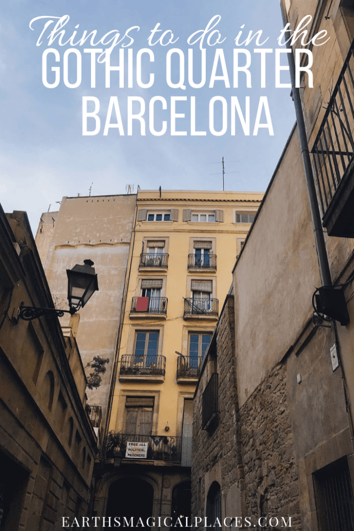The Ultimate Guide to the Gothic Quarter Barcelona Spain! Featuring all the best things to do, photoshoot and Instagram location suggestions and tips on how to make the most out of your Gothic Quarter Barcelona Spain trips (hint seeing the beautiful cathedrals is a must)! #GothicQuarter #Barcelona #Spain #Trips #Cathedral #Thingstodo