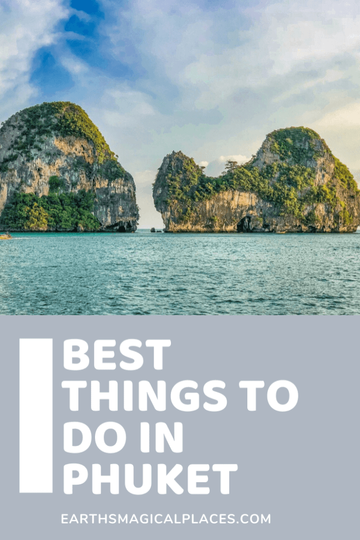 All the best things to do in Phuket Thailand! Hit the beach in Patong, visit the big buddha statue, enjoy the wonders of Wat Chalong temple, explore Phuket old town.... And so much more!! There's no shortage of Thailand things to do when you travel to phuket. #Travel #Phuket #Thialand