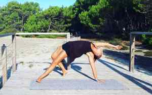 Yoga for beginners online class nature