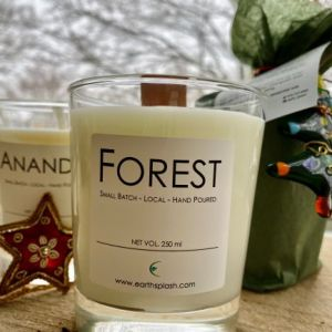 earthsplash forest soy candle wood wick