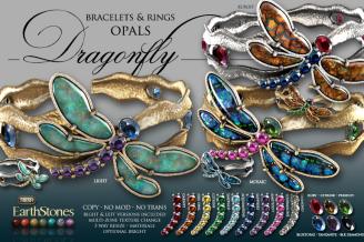 Dragonfly Bracelets & Rings Opals