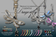 Dragonfly Necklace & Earrings - Gentles