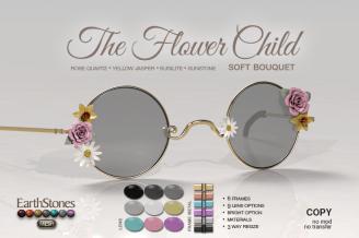 EarthStonesFlowerChildGlasses - Soft Bouquet