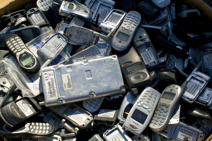e waste phones 700x467 EarthTalk: Questions & Answers About Our Environment