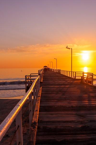 View of Semaphore Beach, one of the beaches in Australia