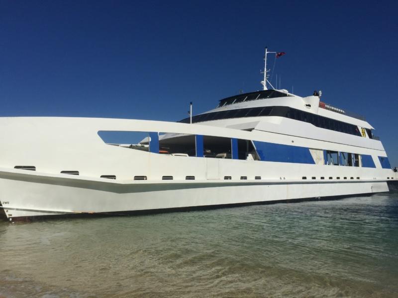 The Ship to Travel to Moreton Island