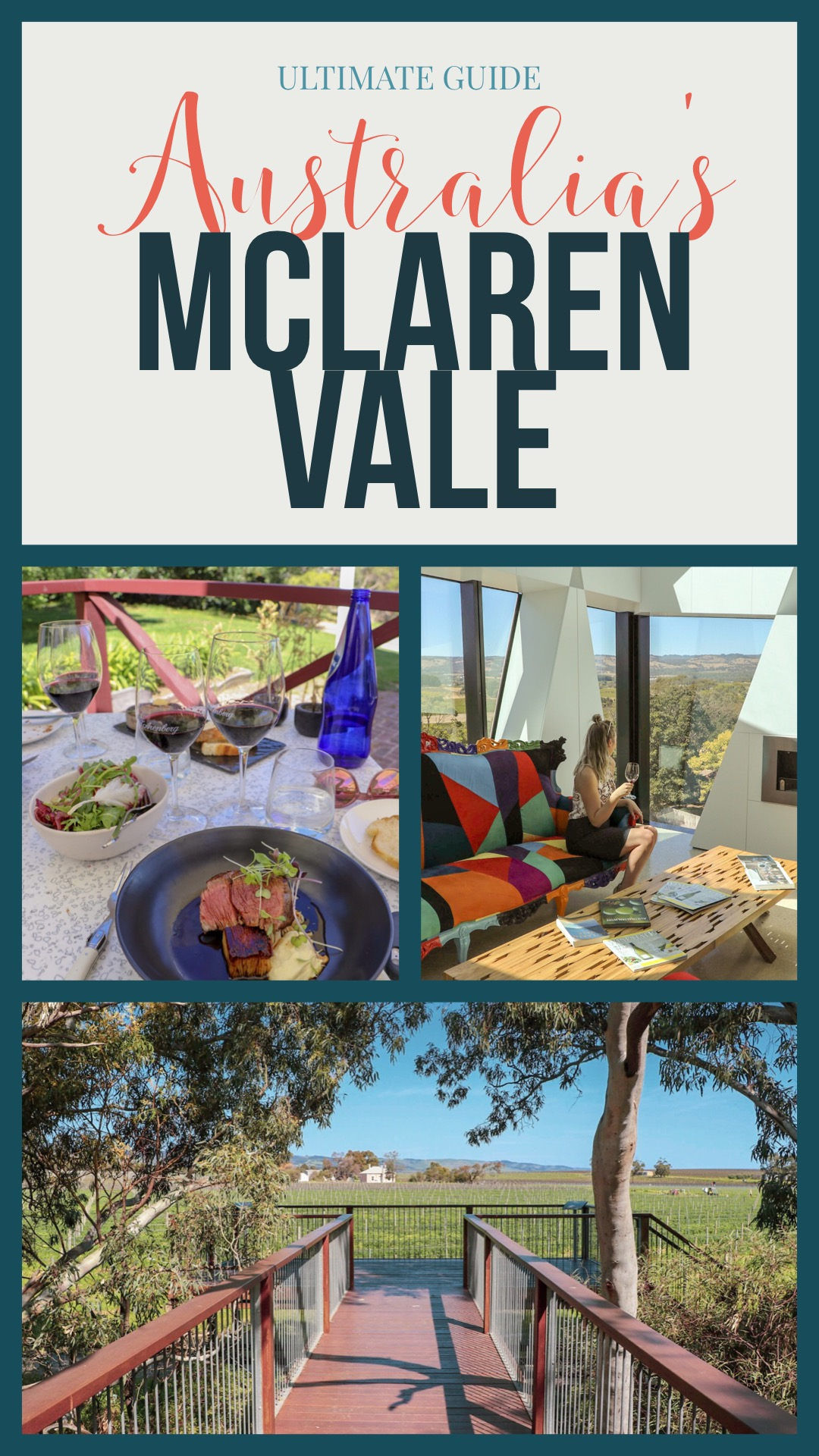 Guide to exploring Australia's McLaren Vale! Find the best Australian wineries, restaurants and places to stay in McLaren Vale!