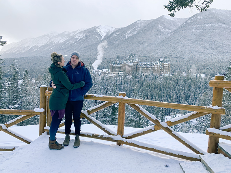 Canada's Castle in the Rockies from Surprise Corner in Banff!