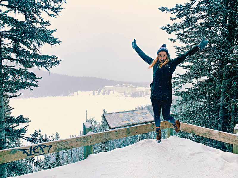 Winter at Lake Louise is just magical. Winter hiking in Banff and Lake Louise.