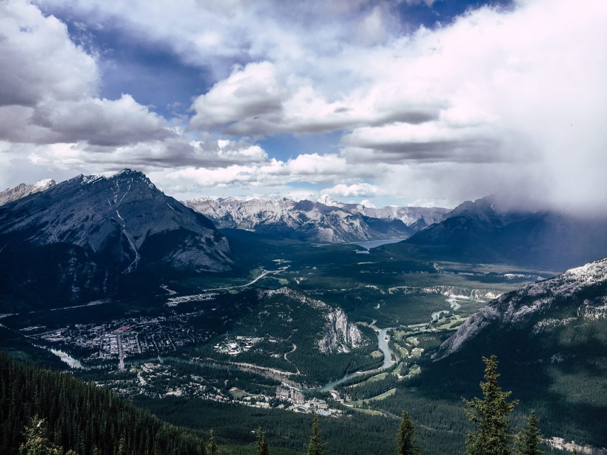 View from the Banff Gondola Banff National Park Canada