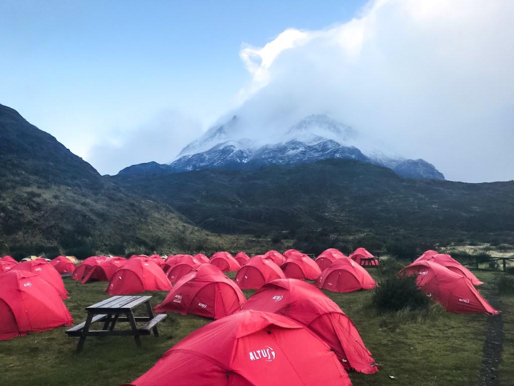 camping a Paine Grande W Trek Torres Del Paine