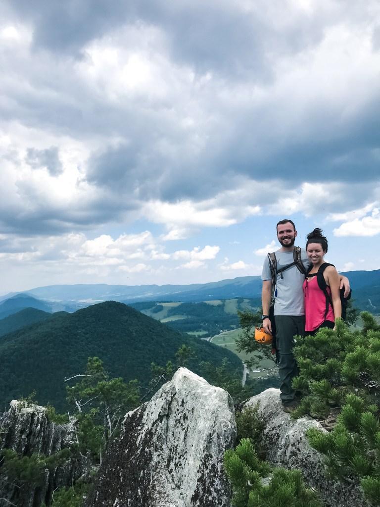 Top of Nelson Rocks Via Ferrata West Virginia