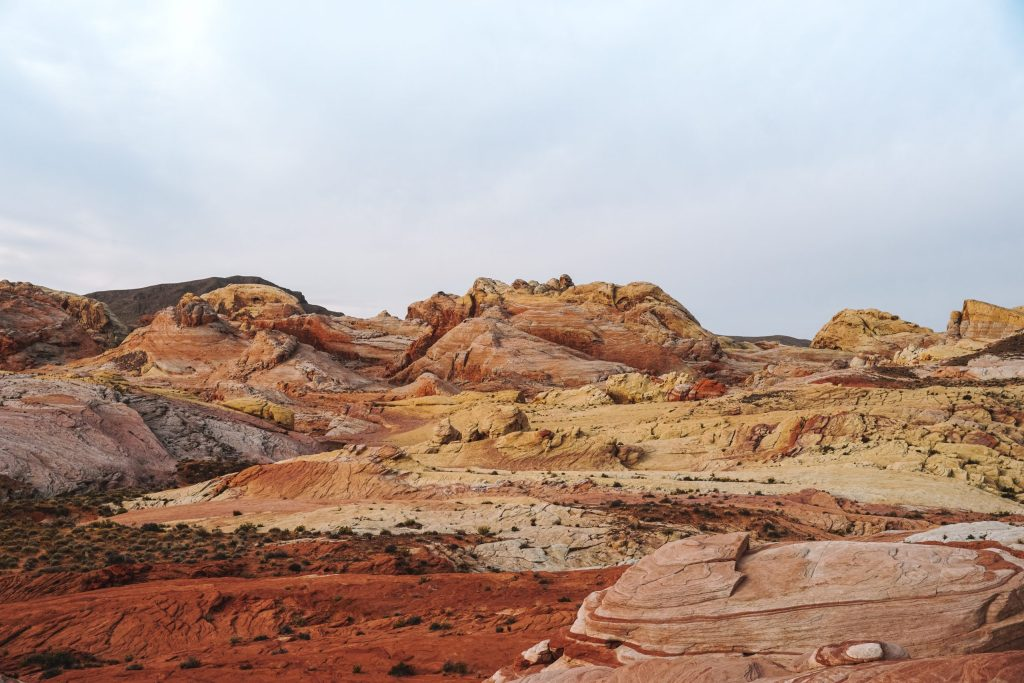 Valley of Fire, Fire Wave Trail, Desert Colors at Sunrise