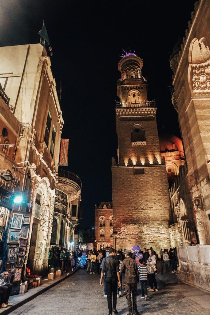 Khan El-Khalili Bazaar at night Egypt Itinerary