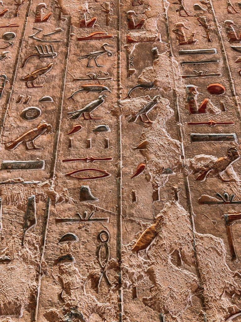 Colorful Inscriptions in Valley of the Kings Burial Sites