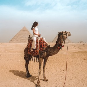 camel ride at Pyramids of Giza in Egypt Solo Travel