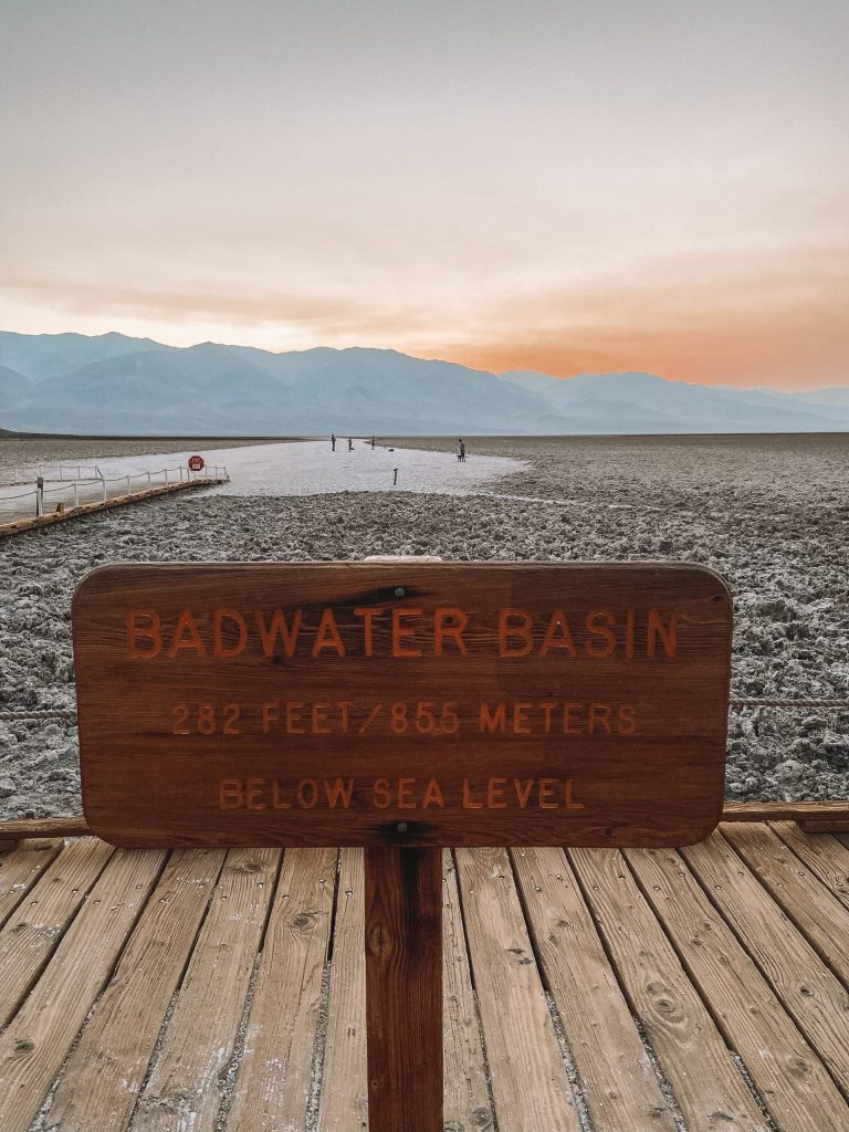 Los Angeles to Death Valley Badwater Basin