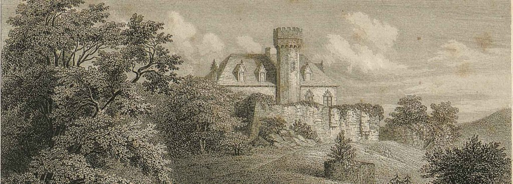 A picture of an engraving of the castle.