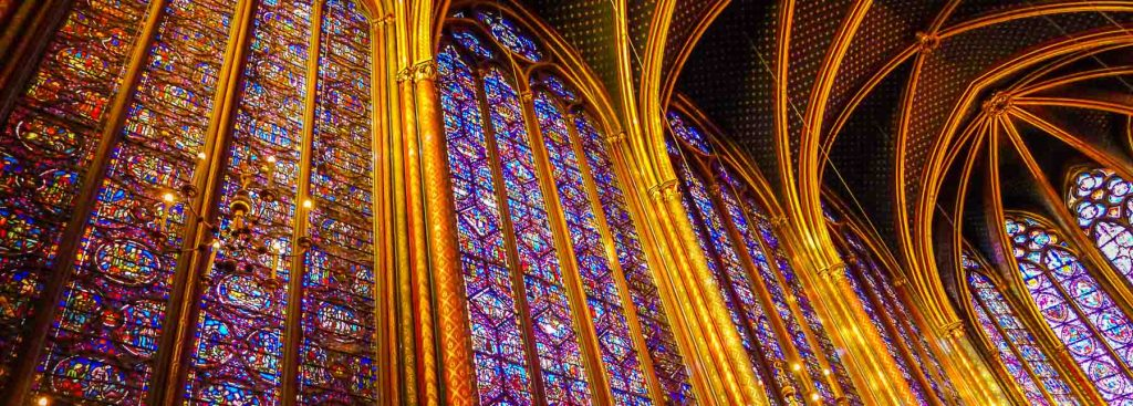Picture of Ste. Chapelle windows.