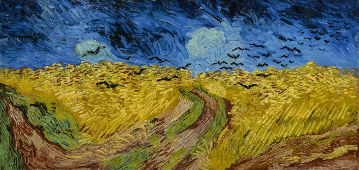 Van Gogh's Crows Over Wheatfield painting painted in Auvers-sur-Oise.