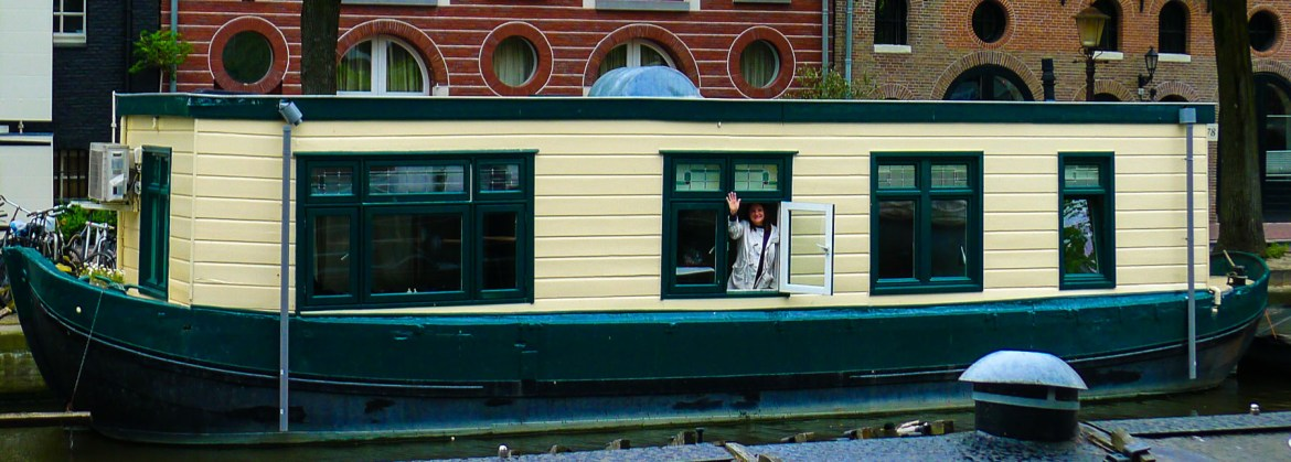 A houseboat in Amsterdam.
