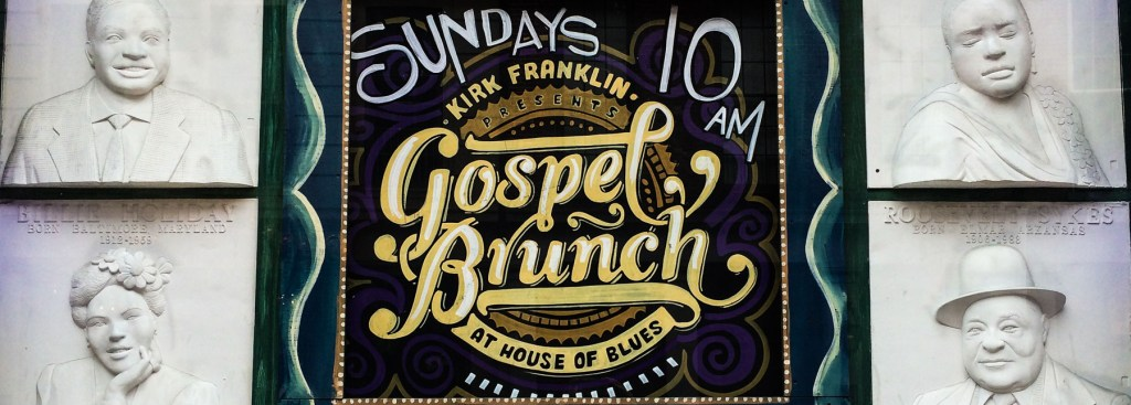 Picture of a poster for Gospel Brunch.
