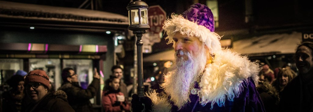 A picture of Saint Nicholas in the Solstice Festival parade.