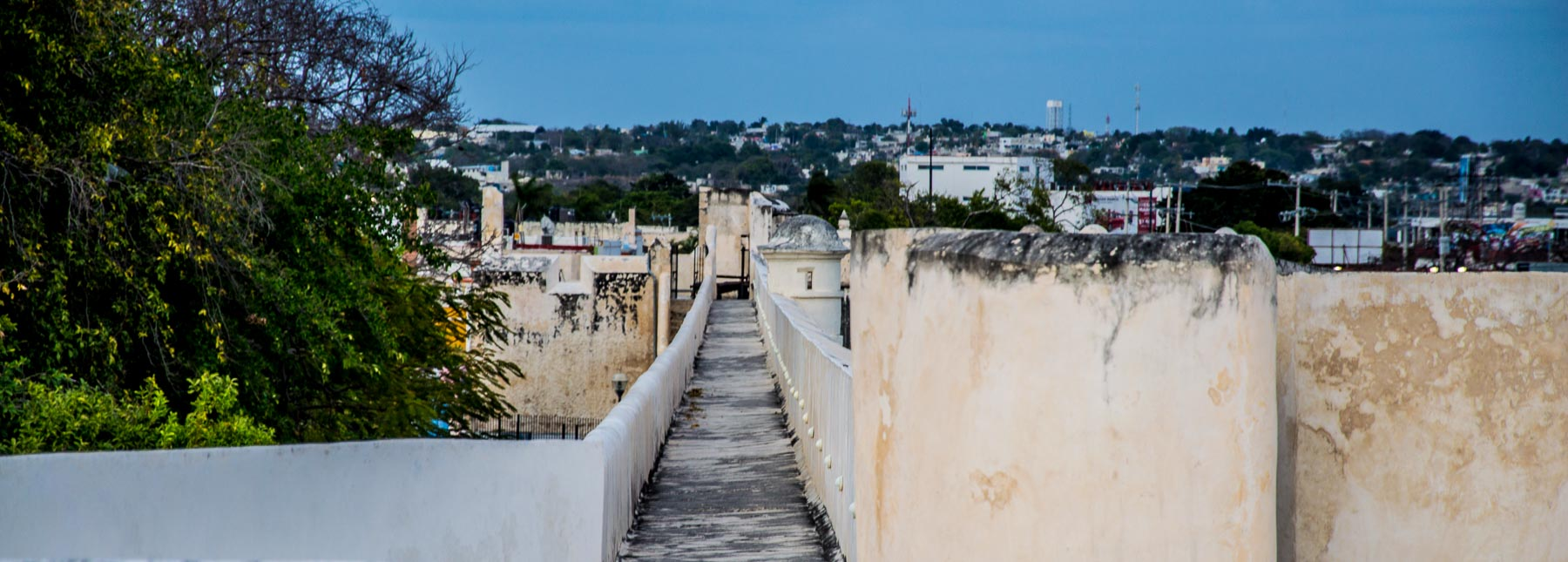 A view of Campeche's walls.