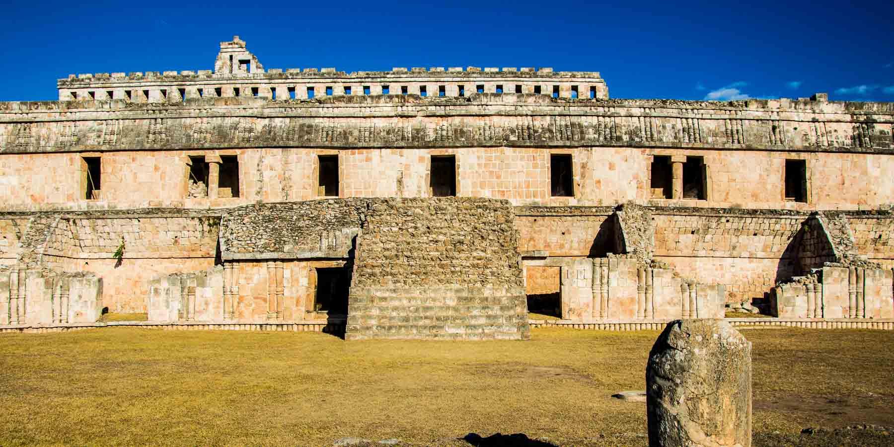Ruling class quarters at the Mayan ruin of Kabah.