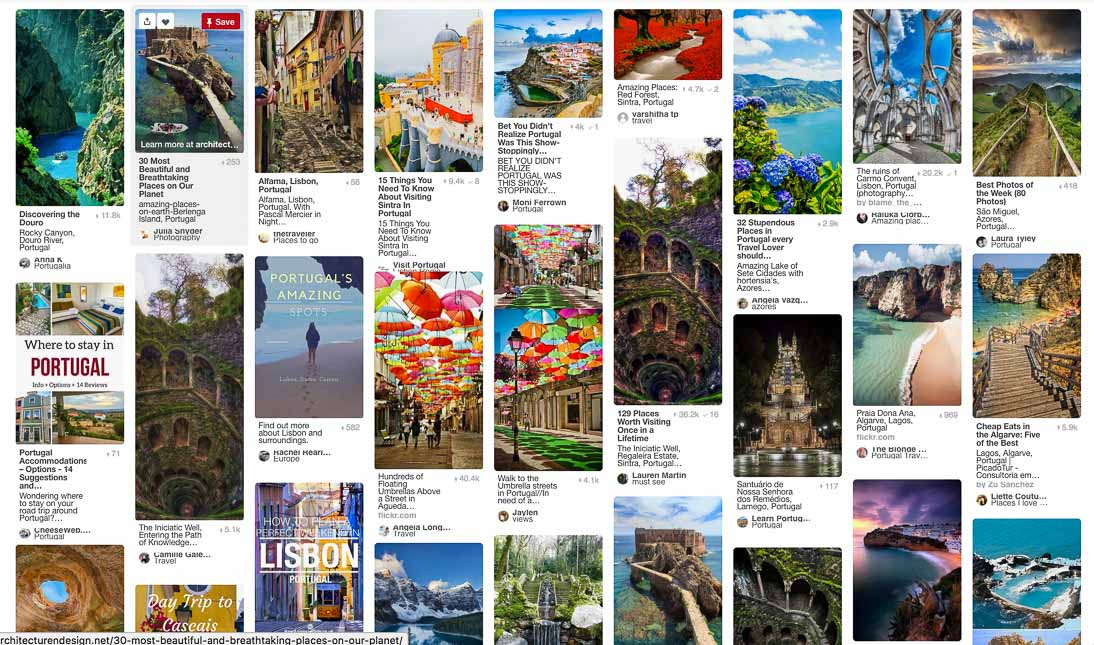 Trip planning with Pinterest.