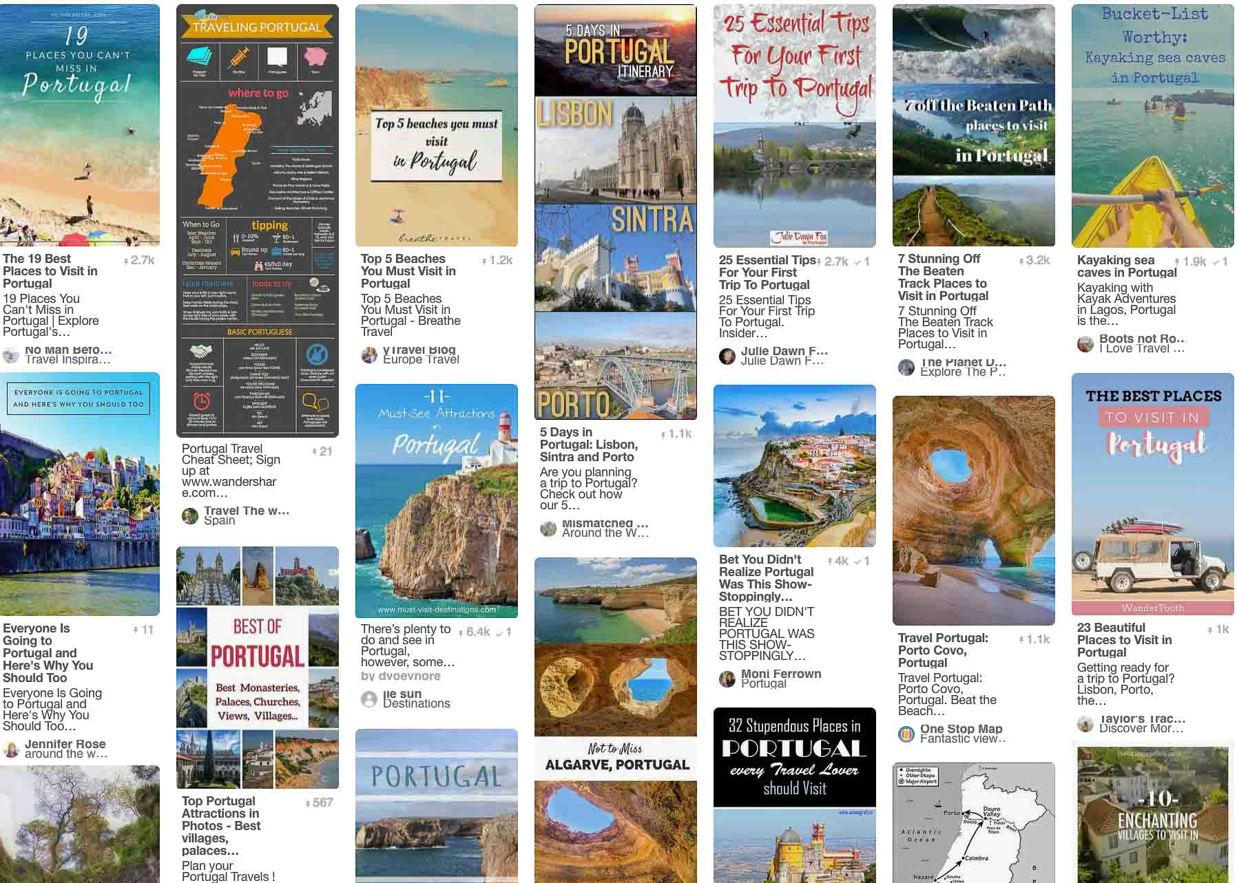 Pinterest is the ideal search engine for travel planning.