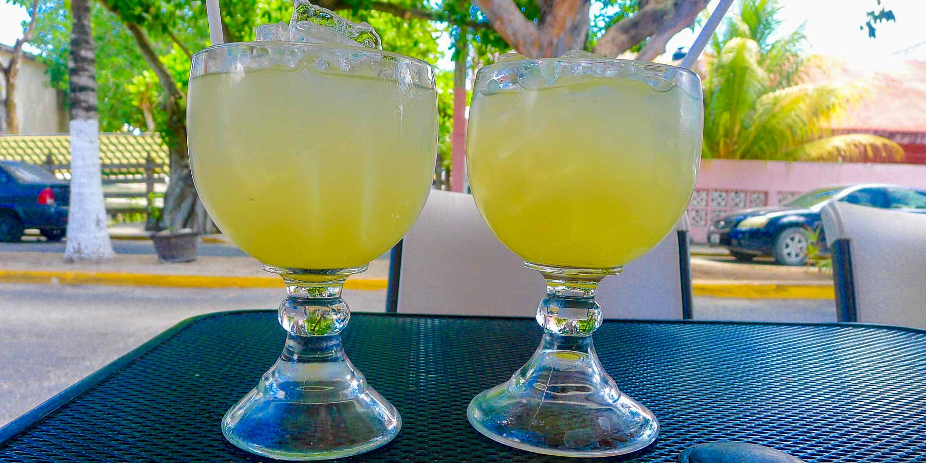 Picture of two margaritas.