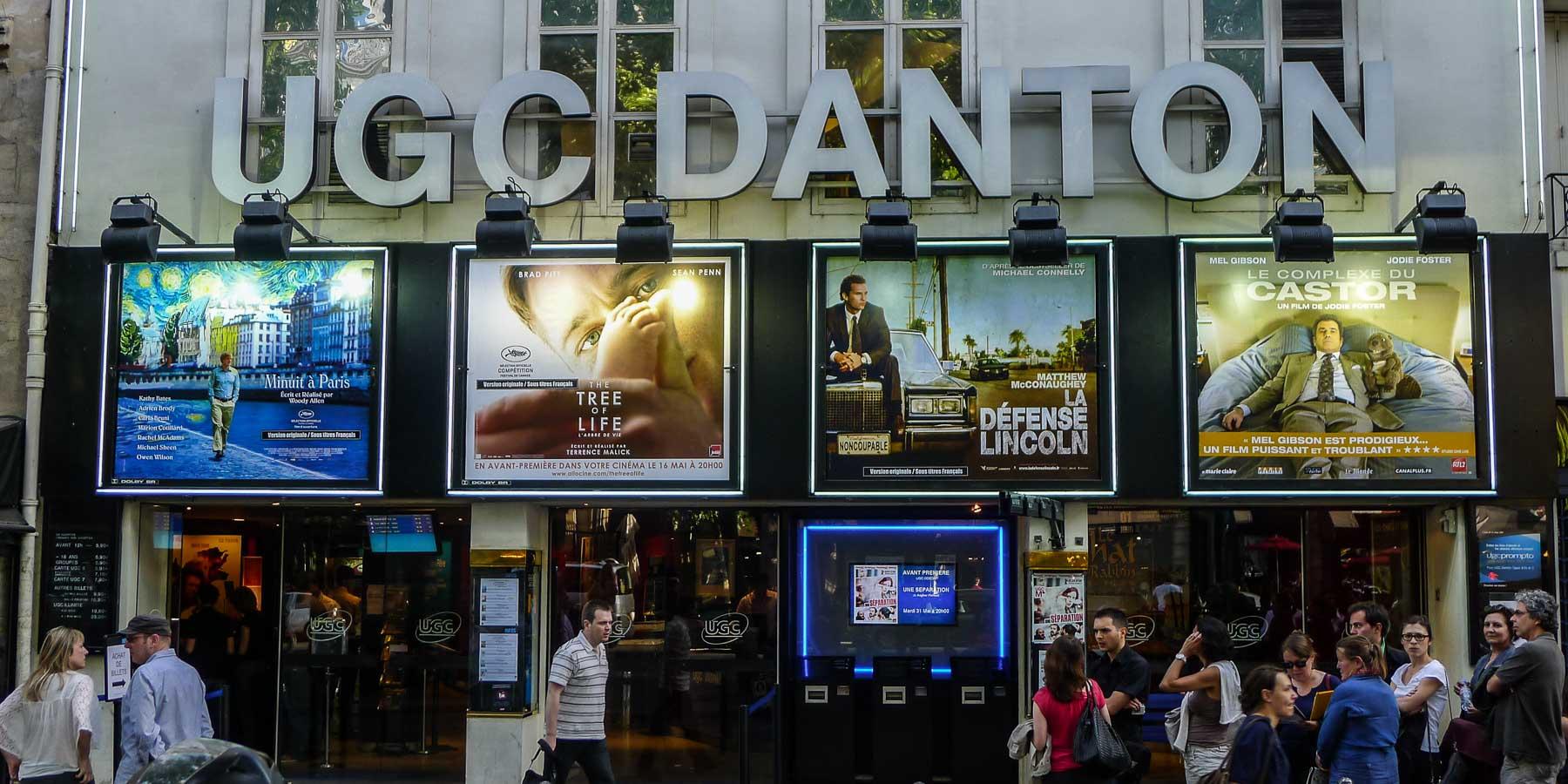 Front of UGC Danton theatre.