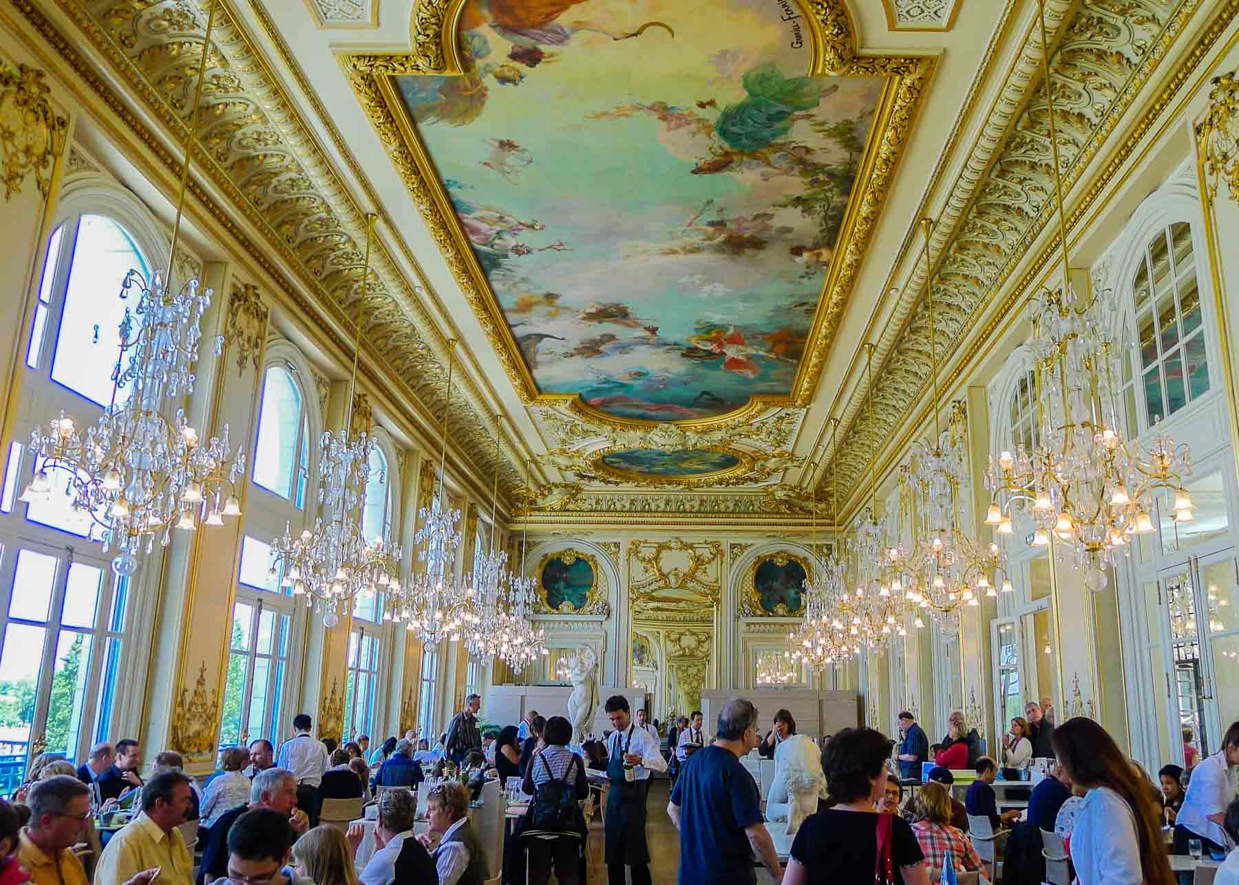 Restaurant at Musee d'Orsay.