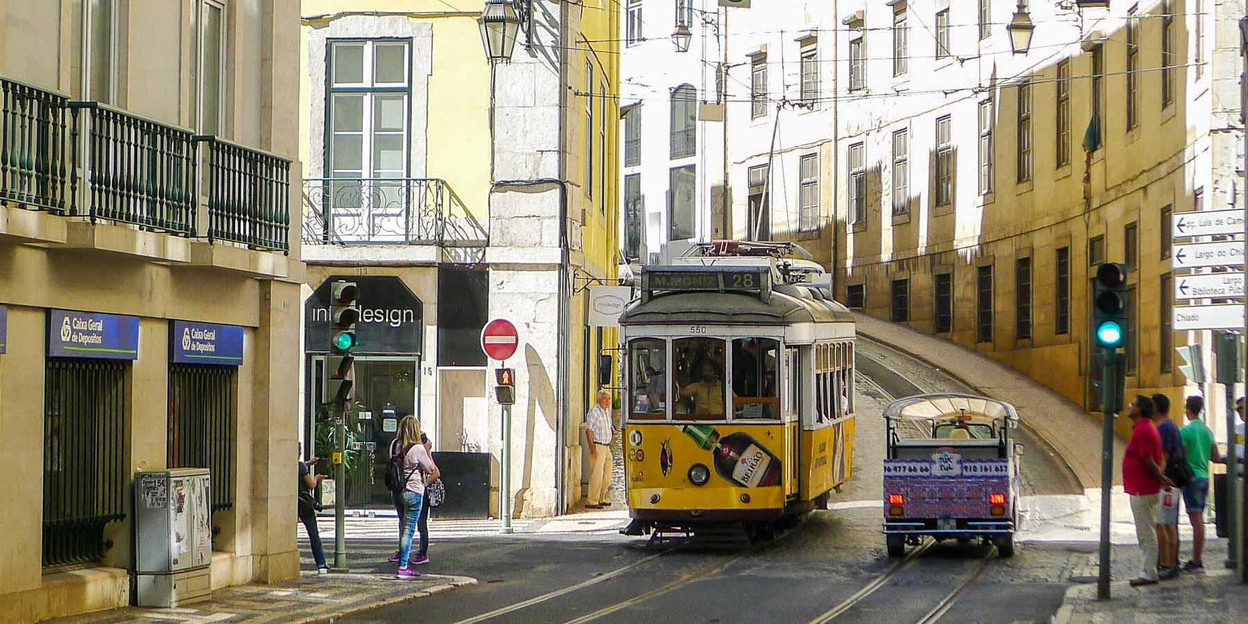 Picture of Lisbon's Tram 28.