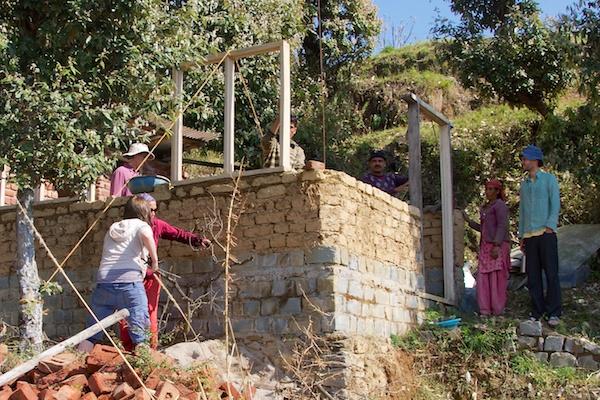 Building Adobe Cottage Walls