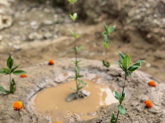 Mud pile