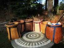 Hand-woven pack baskets