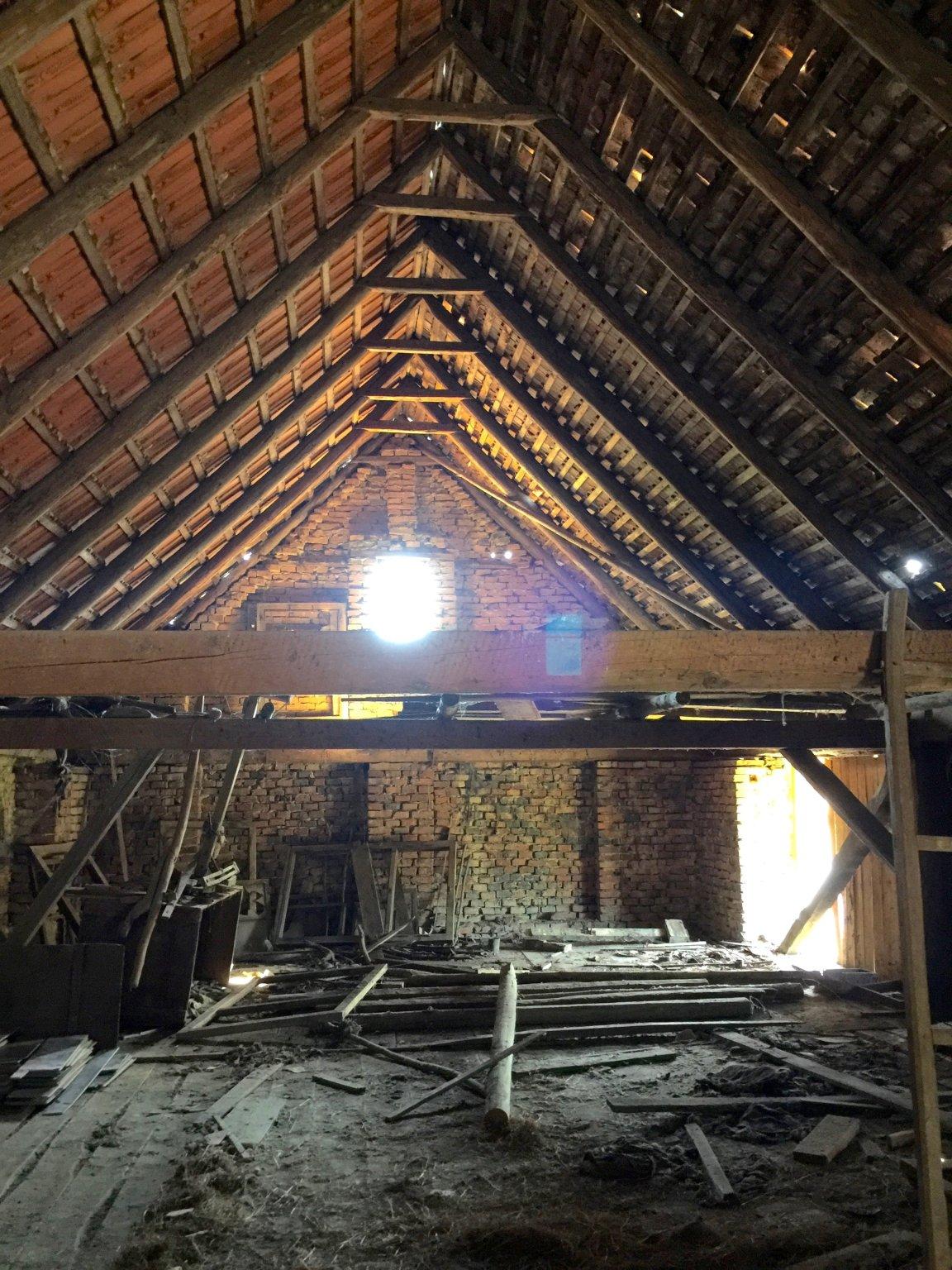 Upper Floor of Barn before cleaning