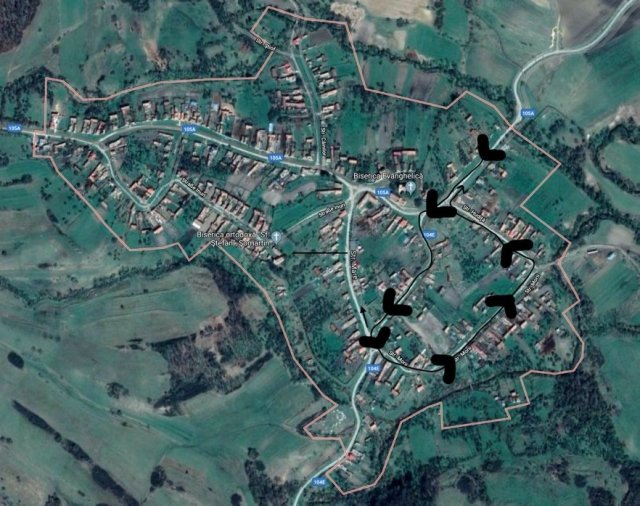 Satellite View Somartin w/ Walk Outline