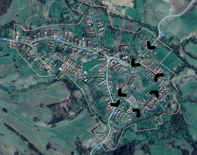 Satellite View Somartin w/ Walk Outline
