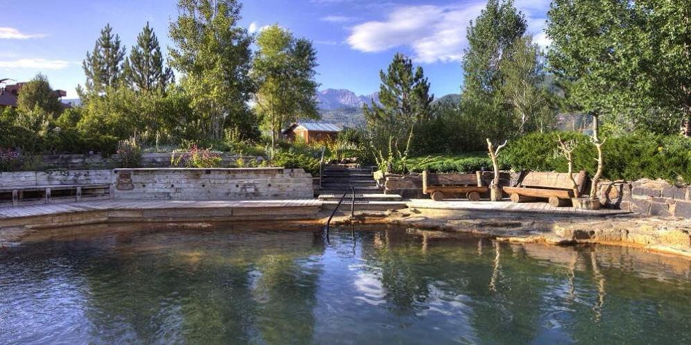 """Orvis Hot Springs (official photo, as it's a """"no electronics allowed"""" kind of place"""