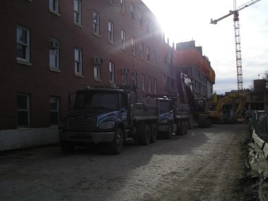 M.A.P. Dump Trucks on Site in Edmonton