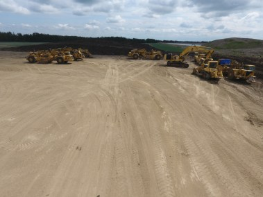 Equipment Yard at Inland Aggregate Pits