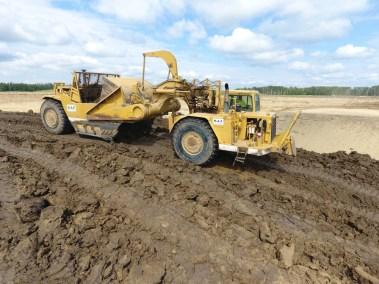 Villinue Pit Project - Tractor Scraper